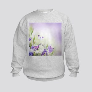 Flowers and Butterflies Sweatshirt