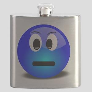Blue Speechless Flask
