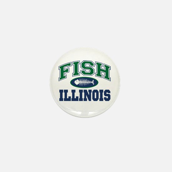 Fishing Illinois Mini Button