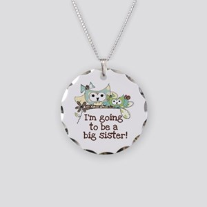 Owls Future Big Sister Necklace Circle Charm