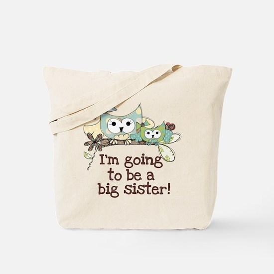 Owls Future Big Sister Tote Bag