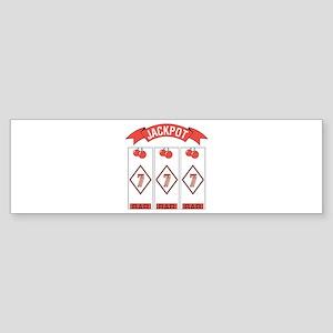 Jackpot 777 (Red) Bumper Sticker