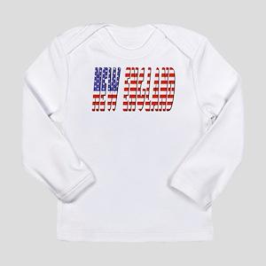 Patriotic New England Long Sleeve T-Shirt