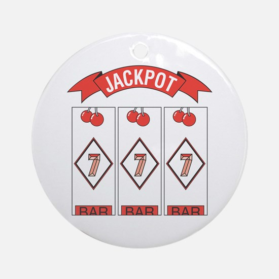 Jackpot 777 (Red) Ornament (Round)
