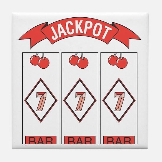 Jackpot 777 (Red) Tile Coaster