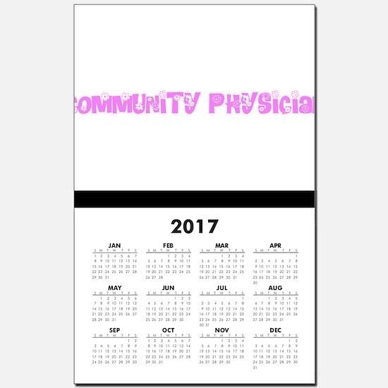 Community Physician Pink Flower Des Calendar Print