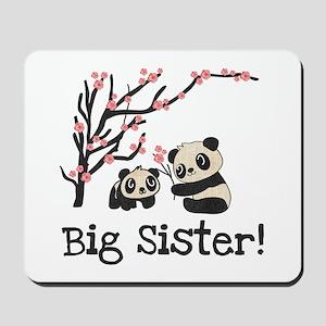 Panda Bears Big Sister Mousepad