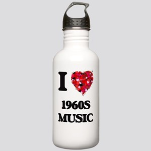 I Love My 1960S MUSIC Stainless Water Bottle 1.0L