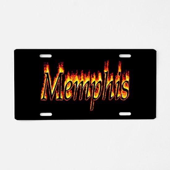 Memphis Flame Aluminum License Plate