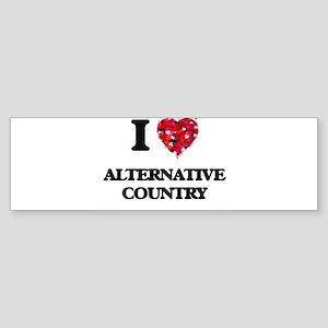 I Love My ALTERNATIVE COUNTRY Bumper Sticker