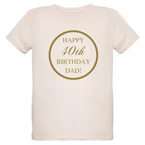 Happy 40th Birthday Dad Keepsake Box1650456305 Organic Kids T Shirts