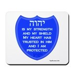 YHVH Is My Shield Mousepad