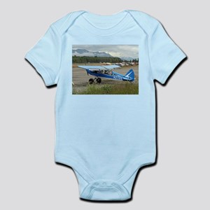 High wing aircraft (blue & white) Body Suit