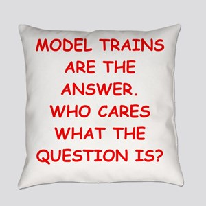 model trains Everyday Pillow