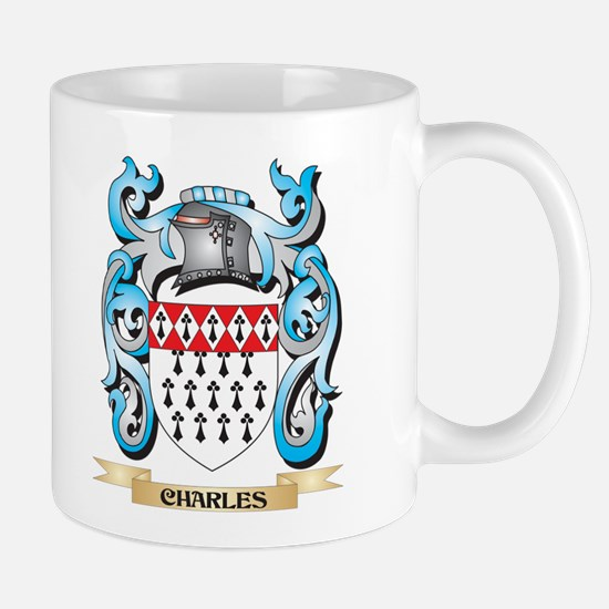 Charles Coat of Arms - Family Crest Mugs
