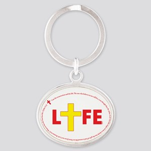 Life In Christ (verses And Cross) Keychains