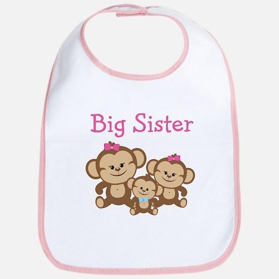 Big Sister With Siblings Bib