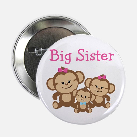 "Big Sister With Siblings 2.25"" Button"