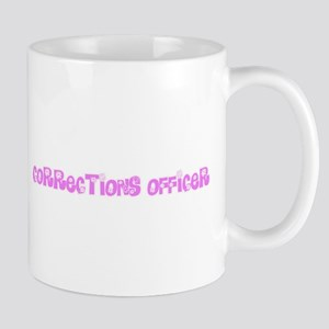 Corrections Officer Pink Flower Design Mugs