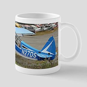 High wing aircraft (blue & white) Mugs