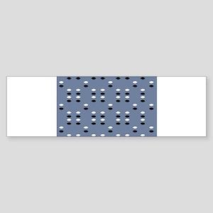 Grey Almond Eye Shapes 4Jimmy D. Bumper Sticker