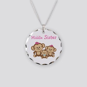 Middle Sis W. Siblings Necklace Circle Charm