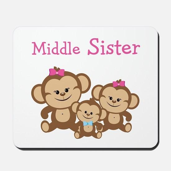 Middle Sis W. Siblings Mousepad