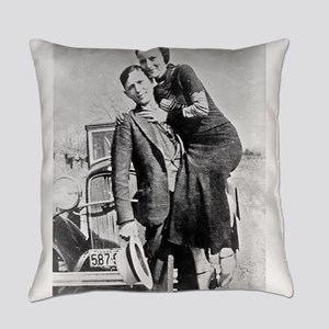 bonnie and clyde Everyday Pillow