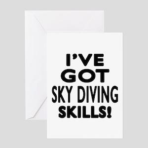 Sky diving Skills Designs Greeting Card