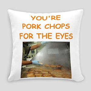 pork chop lover Everyday Pillow