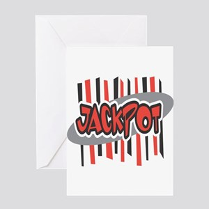 Jackpot (Black & Red) Greeting Card