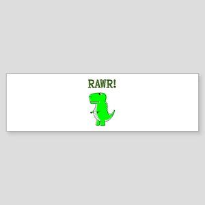 Cute Angry T-Rex RAWR Bumper Sticker