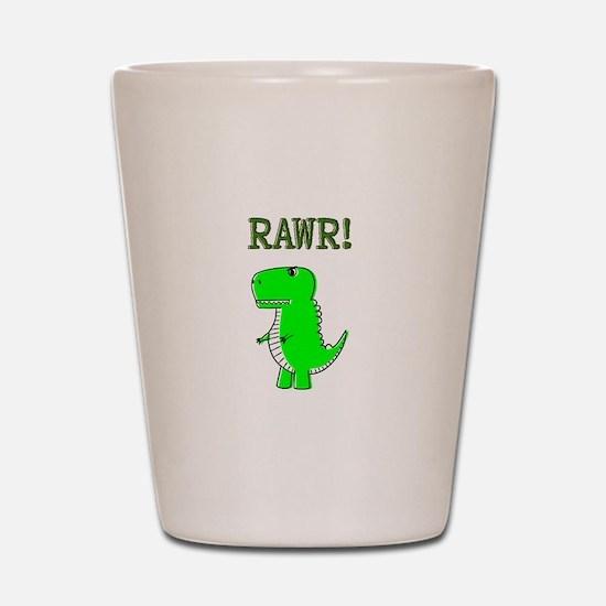 Cute Angry T-Rex RAWR Shot Glass