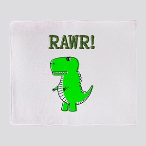 Cute Angry T-Rex RAWR Throw Blanket