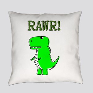 Cute Angry T-Rex RAWR Everyday Pillow