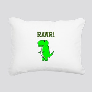 Cute Angry T-Rex RAWR Rectangular Canvas Pillow