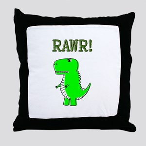 Cute Angry T-Rex RAWR Throw Pillow