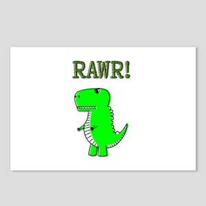 Cute Angry T-Rex RAWR Postcards (Package of 8)