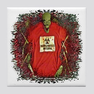Rotting Zombie Corps Tile Coaster