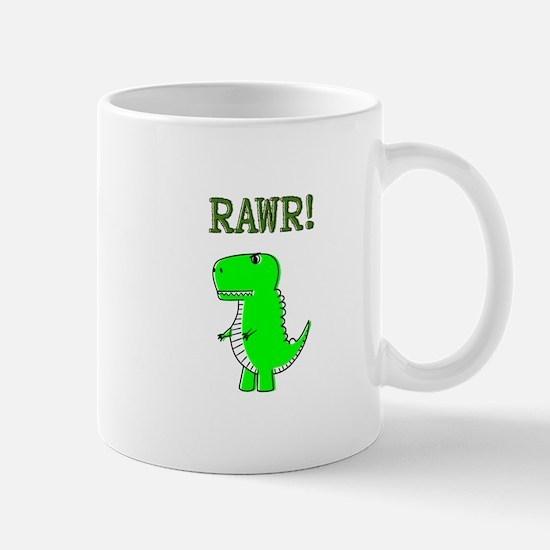 Cute Angry T-Rex RAWR Mugs