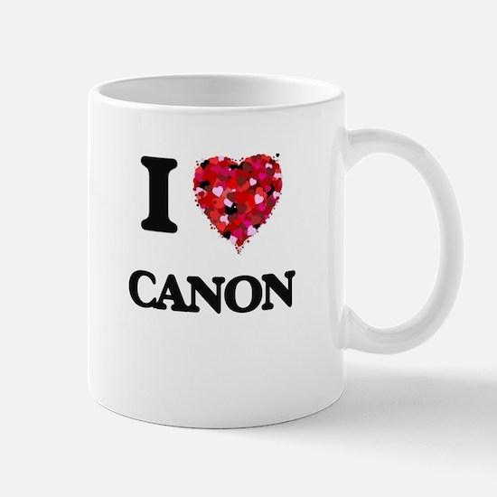 I Love My CANON Mugs