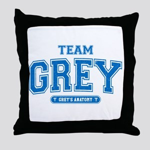 Team Grey Throw Pillow