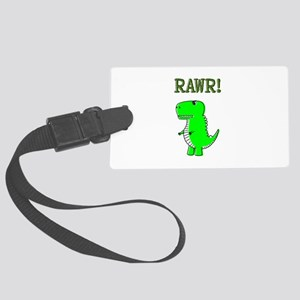 Cute Angry T-Rex RAWR Large Luggage Tag