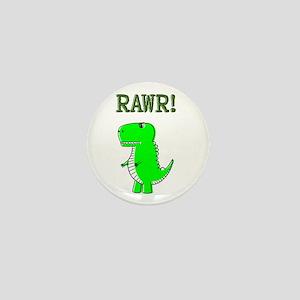 Cute Angry T-Rex RAWR Mini Button