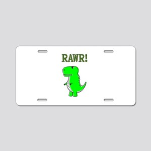 Cute Angry T-Rex RAWR Aluminum License Plate