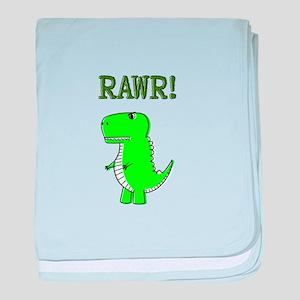 Cute Angry T-Rex RAWR baby blanket