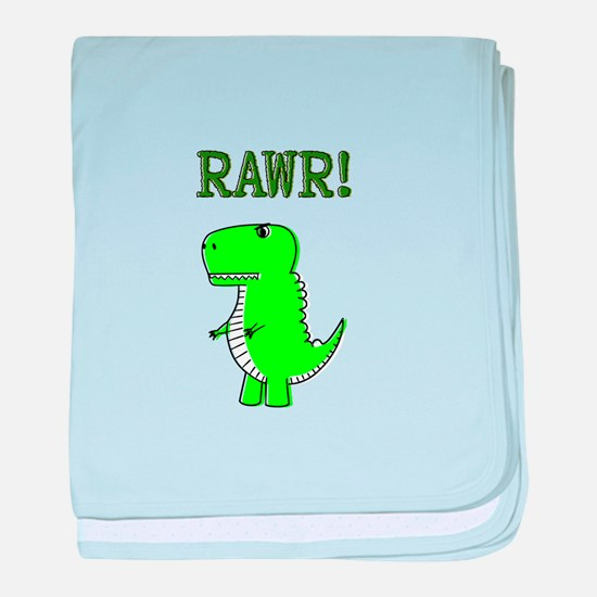Cute Angry T-Rex RAWR baby blanket