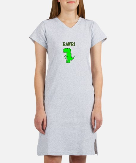 Cute Angry T-Rex RAWR Women's Nightshirt