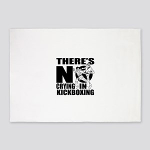 There Is No Crying In kickboxing 5'x7'Area Rug