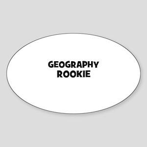Geography Rookie Oval Sticker